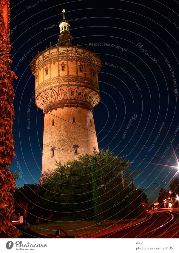 Wasserturm@night historisch