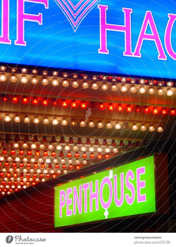 HH Reeperbahn Nacht Stadt Stil Licht Leuchtreklame Sex Nachtclub Europa Hamburg Deutschland