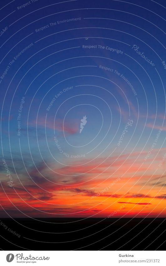 Natur schön Himmel blau rot Wolken kalt träumen Landschaft Luft Horizont heiß Gelassenheit Leidenschaft Mond friedlich