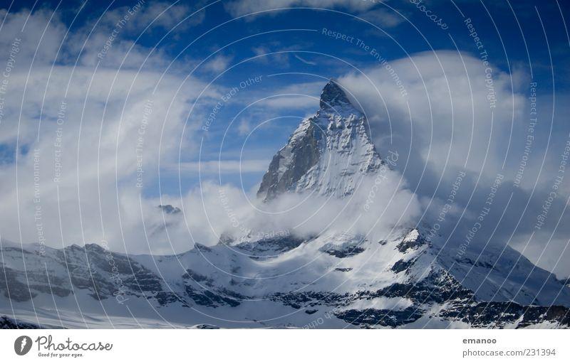Wolkenpyramide Himmel Natur blau Ferien & Urlaub & Reisen Winter Wolken Schnee Landschaft Berge u. Gebirge Eis Ausflug hoch Tourismus Klima Frost Reisefotografie