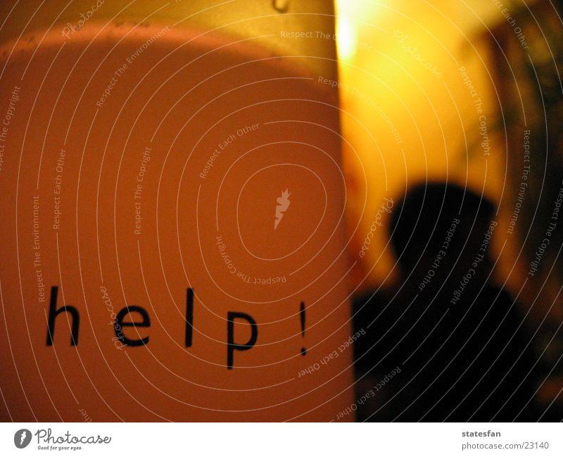 Help! ruhig Häusliches Leben Glas Hilferuf Hilfsbedürftig Hilfesuchend Sprache