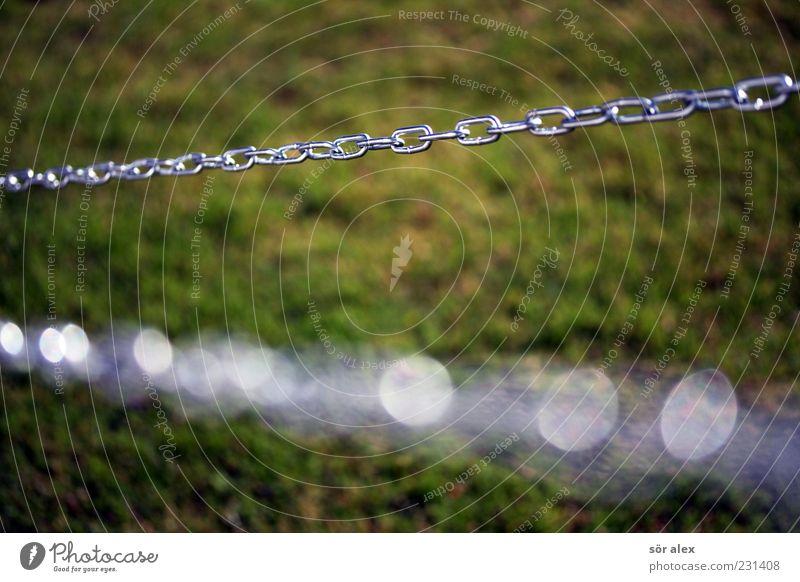 chain-management grün Metall glänzend Sicherheit Netzwerk Rasen stark Stahl Zusammenhalt Kette Teamwork silber Halt Eisenkette anketten 2