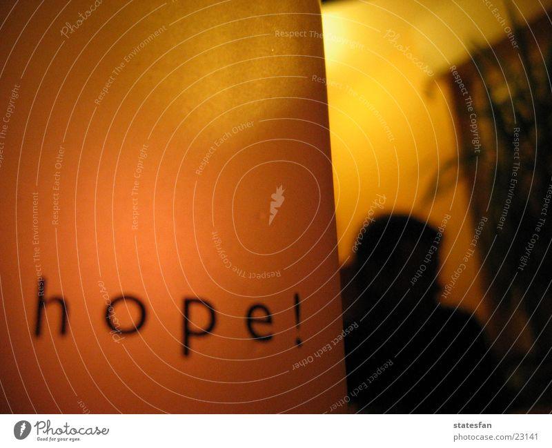 Hope! ruhig Häusliches Leben Glas Hoffnung