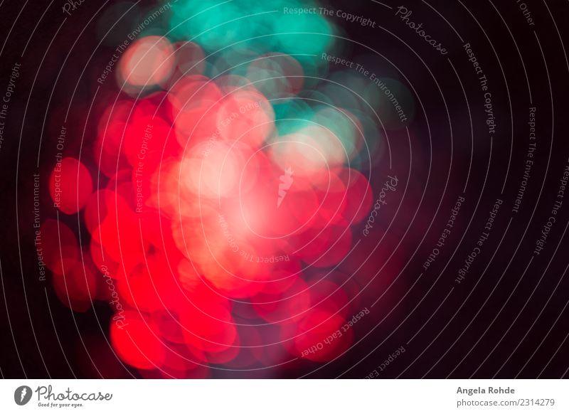 Abstract bright colorful dots of light, soft bokeh Design Show Party leuchten rund mehrfarbig grün rot schwarz Bewegung bizarr Energie Farbe bedrohlich Kunst