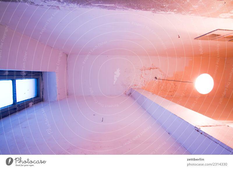 Zimmerdecke, Altbau Decke Froschperspektive Menschenleer Raum Innenarchitektur Textfreiraum Häusliches Leben Grundriss Wand Fenster Lampe Licht Erkenntnis