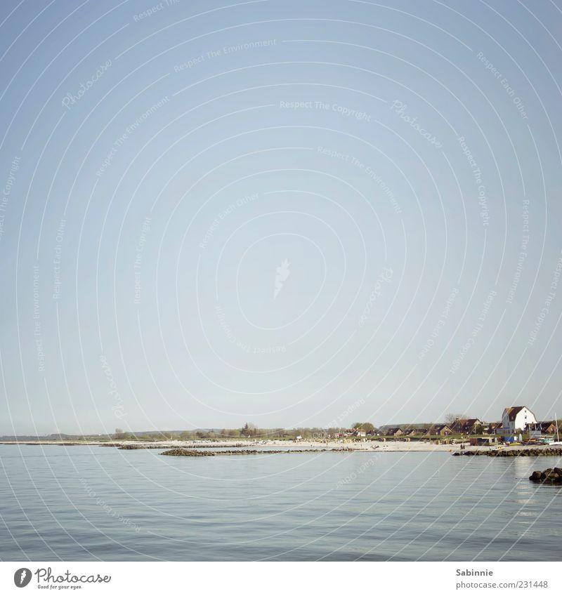 Jala-esque Ferien & Urlaub & Reisen Sommerurlaub Strand Meer Wellen Umwelt Natur Himmel Wolkenloser Himmel Klima Schönes Wetter Küste Bucht Ostsee Badestelle