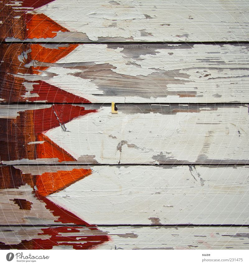 Woodstock Fassade Holz Zeichen Linie Fahne alt trocken weiß Verfall Vergänglichkeit Wandel & Veränderung Zaun Holzbrett Zacken orange Hintergrundbild