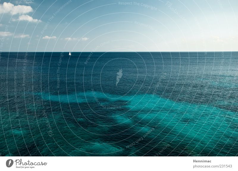 Spring! harmonisch Erholung ruhig Ferien & Urlaub & Reisen Tourismus Ferne Freiheit Sommer Meer Umwelt Wasser Schönes Wetter Segelboot Unendlichkeit blau grün