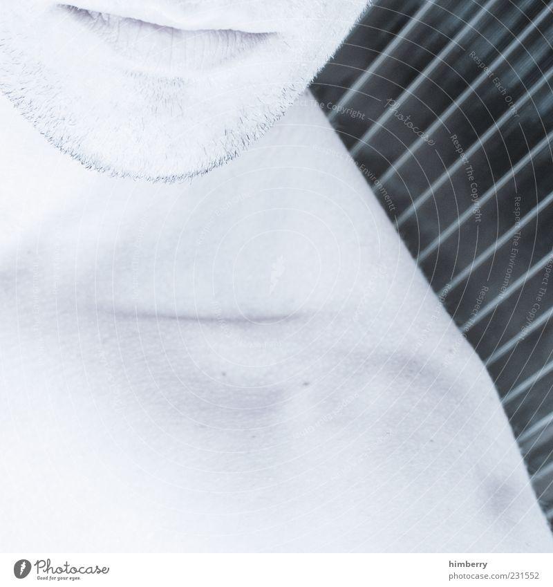 metroman Jugendliche ruhig Mund maskulin Coolness Kinn Bartstoppel Barthaare Junger Mann Männermund