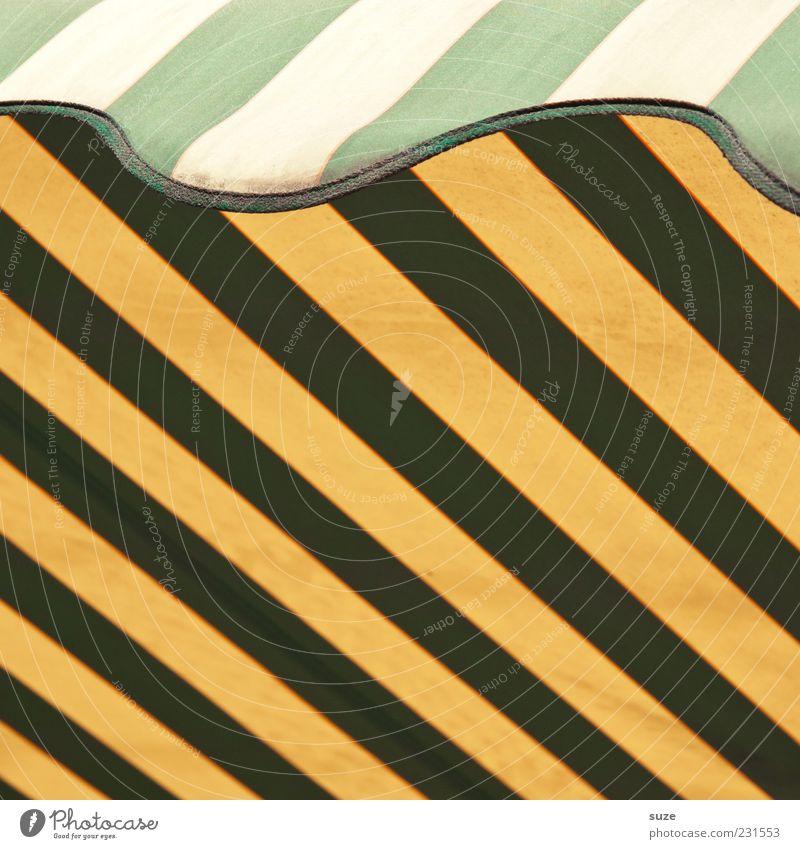 Sonnenklar Design Linie Streifen gelb grün Markise Wetterschutz graphisch Grafik u. Illustration Farbfoto mehrfarbig Außenaufnahme Muster Strukturen & Formen