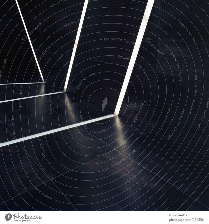 steril. Haus Architektur Mauer Wand Leuchtstoffröhre eckig hell kalt trist viele Stimmung Farbfoto Innenaufnahme Experiment abstrakt Muster Menschenleer Tag