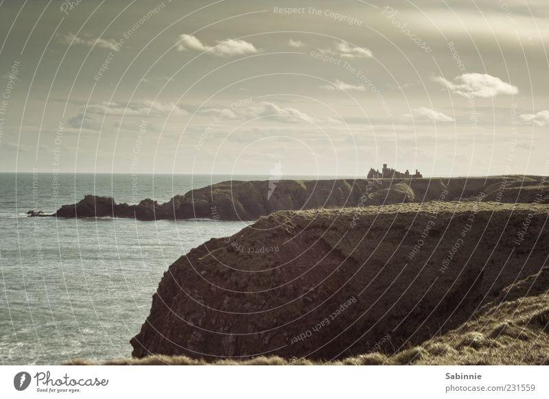 Slains Castle #3 Himmel Natur blau Wasser Meer Strand Wolken Ferne Landschaft Stein Küste Gebäude braun Horizont Wellen Wind