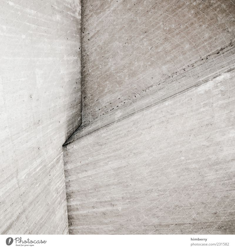 verkantet Wand Architektur Gebäude Mauer Hintergrundbild Beton Design planen Ecke trist Bauwerk Stress Konstruktion Inspiration Textfreiraum innovativ