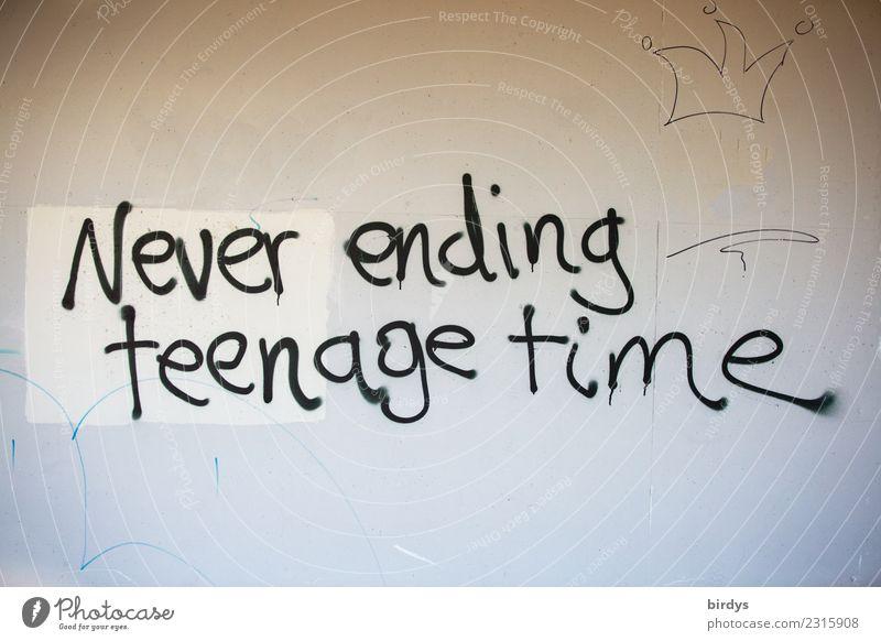 ewige Jugend Schriftzeichen Graffiti alt träumen authentisch Gefühle Optimismus Hoffnung Sehnsucht Zukunftsangst Senior Ende Lebensfreude Leichtigkeit