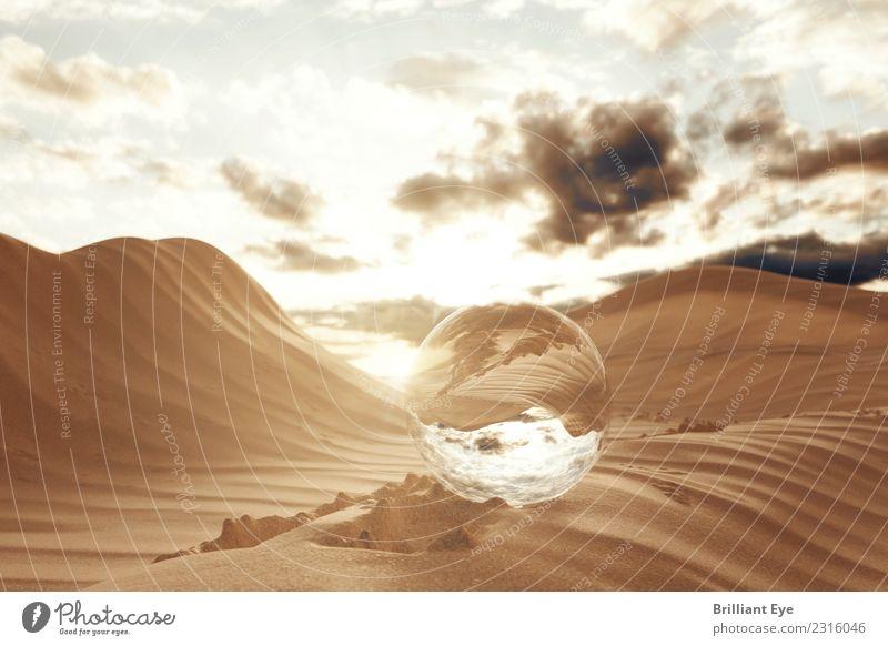 Sahara rundschauen Ferien & Urlaub & Reisen Sommer Natur Landschaft Sand Wüste Glas Kugel exotisch Unendlichkeit Beginn Zufriedenheit Bewegung Energie entdecken