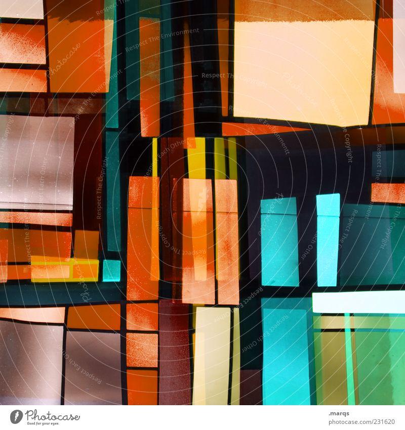 Interlaced Farbe Stil Linie Kunst Glas Design modern außergewöhnlich Dekoration & Verzierung leuchten einzigartig skurril chaotisch trendy Doppelbelichtung
