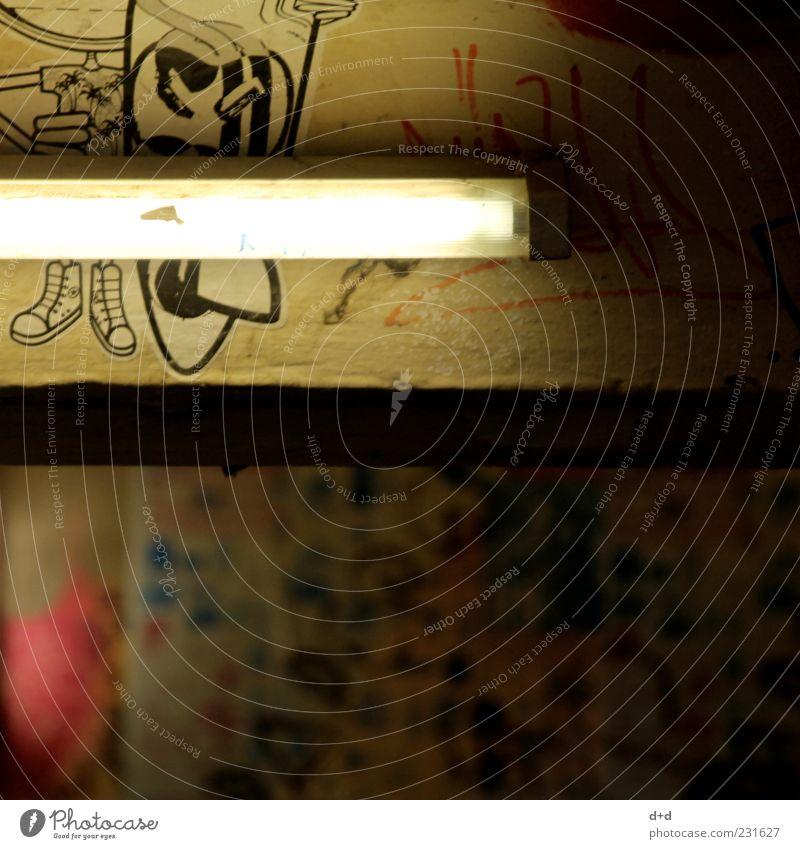 -- Wand Graffiti Mauer Beleuchtung Fabrik Club trendy Hinterhof Etikett Neonlicht Keller Straßenkunst Ghetto Szene Schmiererei Vandalismus
