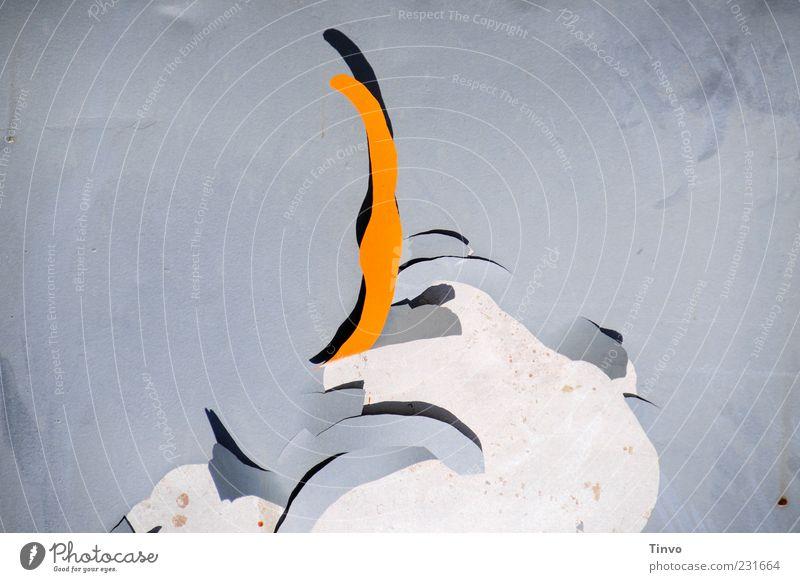 Antilope Metall grau Farbe Wandel & Veränderung orange abstrakt Farben und Lacke abblättern Anstrich alt Farbfoto Außenaufnahme Menschenleer Textfreiraum links