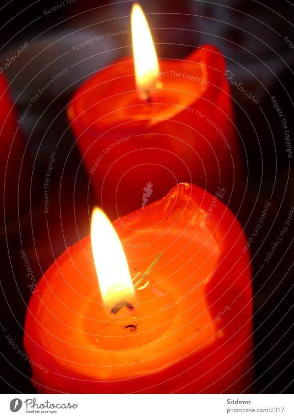 Candle-xmas Weihnachten & Advent rot Kerze Dinge