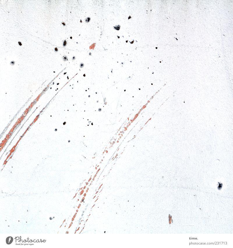 Sternschnuppen Mauer Wand Streifen hell kaputt weiß ästhetisch Bewegung Design elegant Kreativität Leichtigkeit Stimmung Surrealismus Fleck Putz Komet Schramme