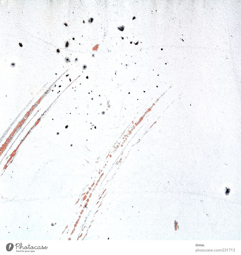 Sternschnuppen weiß Wand Bewegung Mauer Stimmung hell elegant Design ästhetisch kaputt Streifen Kreativität Putz Leichtigkeit Fleck