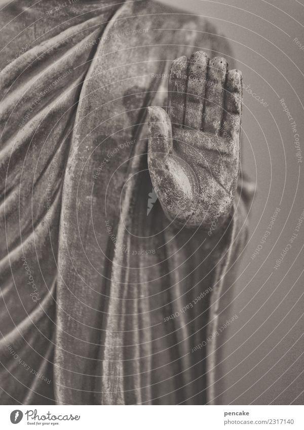 zuhören Hand Skulptur Zeichen Gelassenheit Religion & Glaube Sinnesorgane Tradition Buddha Statue gestikulieren Lehrer Spiritualität Asien Buddhismus Farbfoto