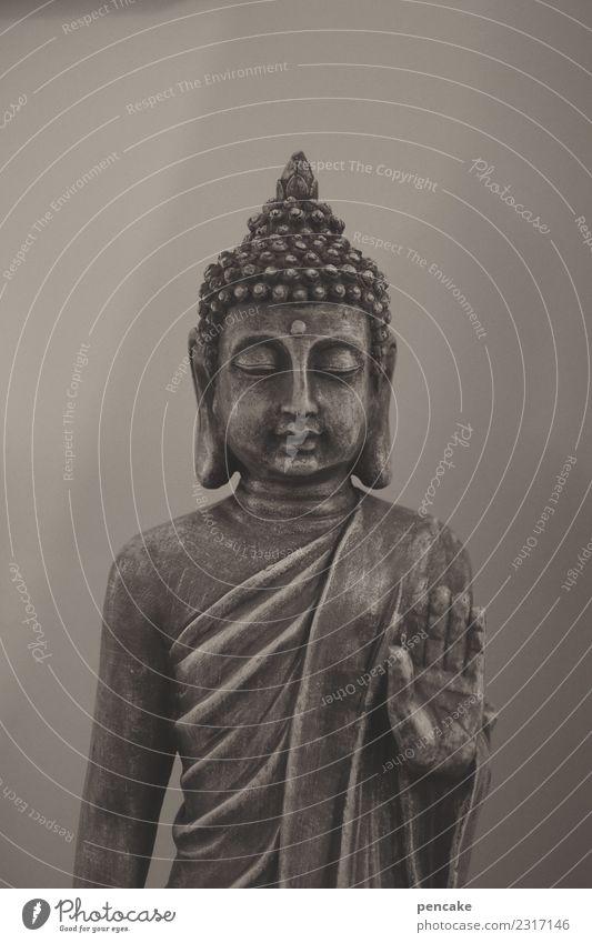 langsam runterfahren! ruhig Meditation Ausstellung Kitsch Krimskrams Zeichen exotisch Buddha Statue gestikulieren Asien Religion & Glaube Spiritualität