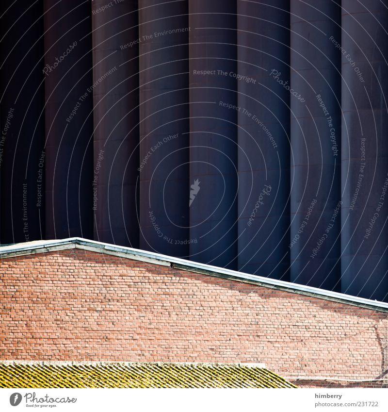 bauhaus Industrie Haus Hütte Industrieanlage Fabrik Ruine Bauwerk Gebäude Architektur Mauer Wand Fassade einzigartig Design Farbfoto mehrfarbig Außenaufnahme