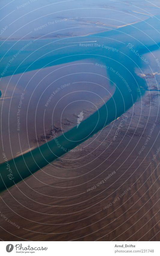 Wasserwege Natur Einsamkeit Ferne Landschaft Küste Wellen Erde Nordsee Schönes Wetter Bucht Textfreiraum Flut Ebbe Meer Wasserstraße
