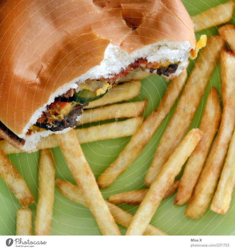 oller Burger Lebensmittel Fleisch Teigwaren Backwaren Brötchen Ernährung Mittagessen Abendessen Fastfood lecker ungesund Pommes frites Cheeseburger Hamburger