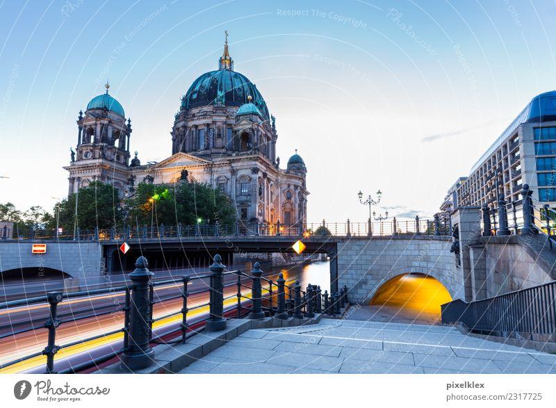 Berliner Dom in der blauen Stunde Ferien & Urlaub & Reisen Tourismus Ausflug Sightseeing Städtereise Nachtleben Deutschland Europa Stadt Hauptstadt Stadtzentrum