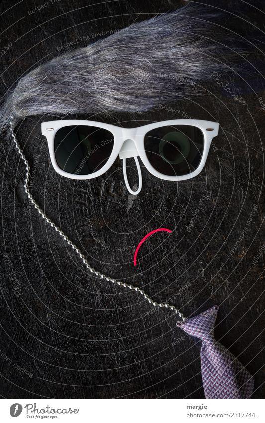 Emotionen...coole Gesichter: Karl Lifestyle kaufen Reichtum elegant Stil Design schön Haare & Frisuren Mensch maskulin Mann Erwachsene Mund 1 grau schwarz weiß
