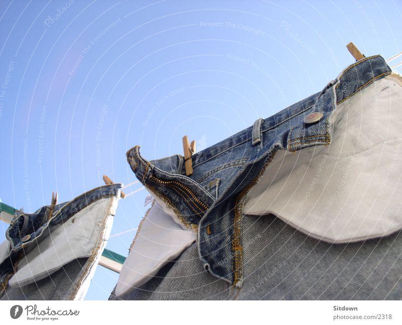 Hosenblau Jeanshose Dinge Wäsche Wäscheleine