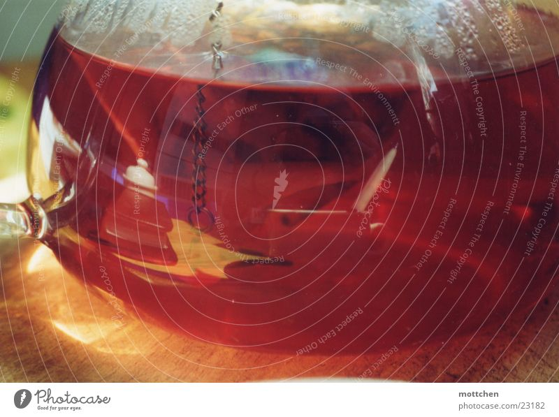 teekanne rot Glas Tee Alkohol Kannen Getränk Früchtetee