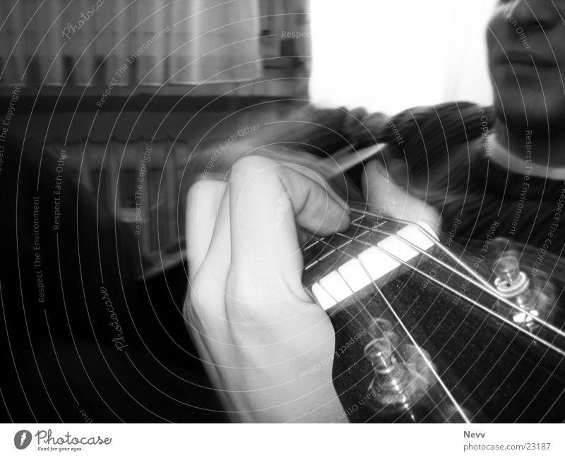 Guitar Play Hand Spielen Freizeit & Hobby Gitarre Saite