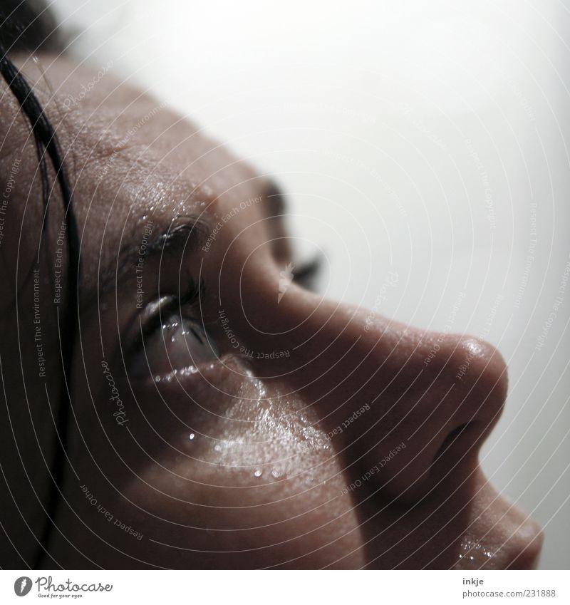 ........ Mensch Gesicht Erwachsene Gefühle Traurigkeit Stimmung nass Hoffnung Trauer Sehnsucht nah Zukunftsangst Verzweiflung Sorge Liebeskummer weinen