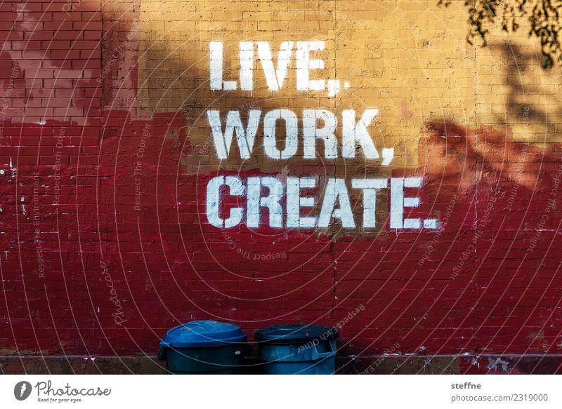 NYC4 New York City Skyline USA Stadt Brooklyn Graffiti Arbeit & Erwerbstätigkeit Design Sinn