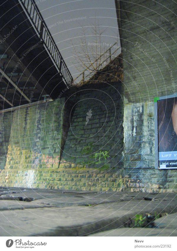 Under The Bridge Bahnbrücke Nacht Langzeitbelichtung Kreis Neuss Brücke Straße