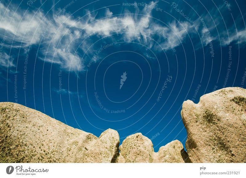 blu Himmel blau Sommer Stein Felsen hoch Schönes Wetter