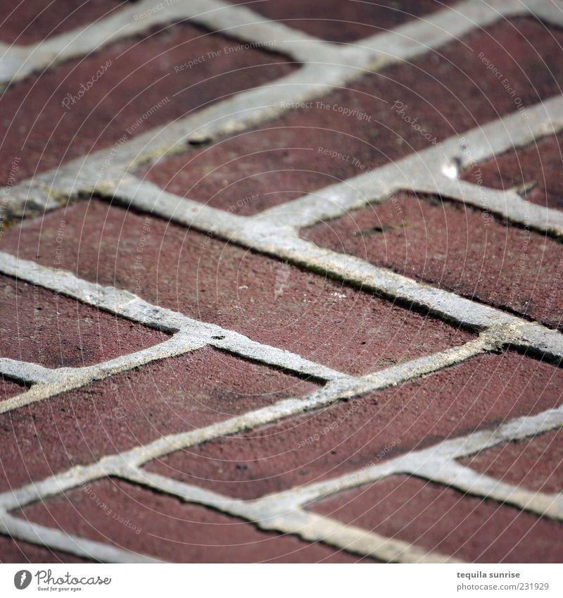 Zick-Zack-Ziegelpfalster rot Wege & Pfade braun Ordnung Design Backstein Pflastersteine Zacken Zickzack Stein ziegelrot
