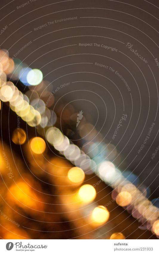 Beautiful bokeh schwarz gelb dunkel Wand gold Nacht Lichtpunkt