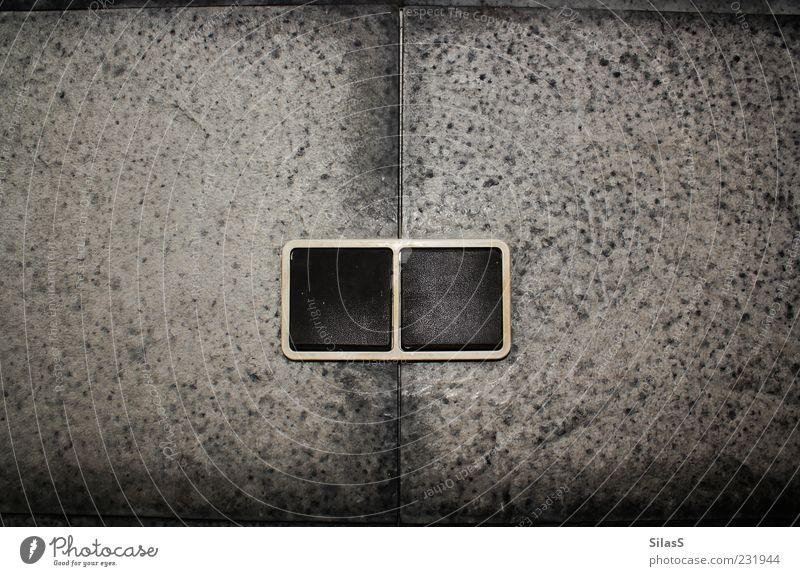 Es werde Licht weiß schwarz Wand grau Stein paarweise Fliesen u. Kacheln Technik & Technologie Lichtschalter
