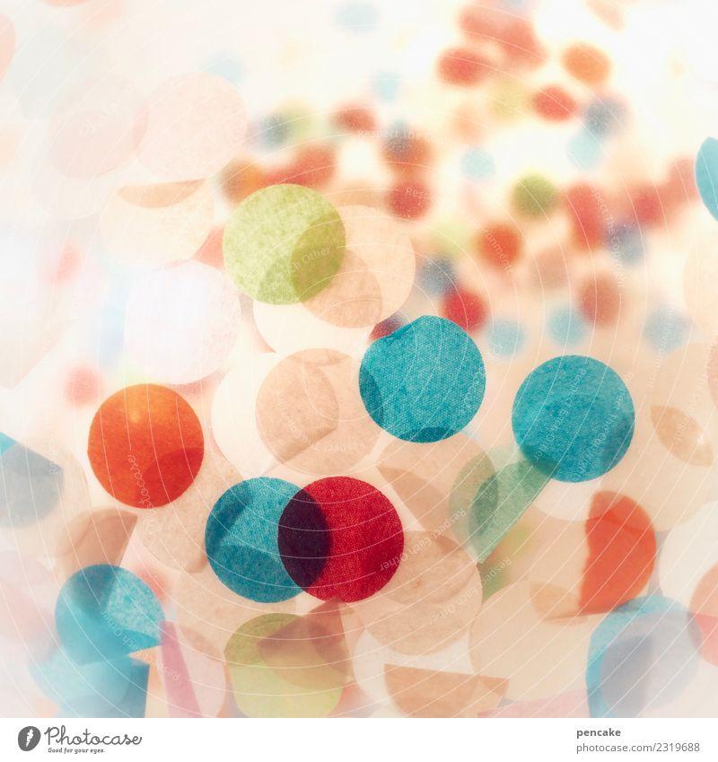 alaaf! Design Spielen Party Feste & Feiern lustig Luftballon rund Papier Konfetti Karneval Fröhlichkeit Kreis Farbfoto mehrfarbig Innenaufnahme Experiment
