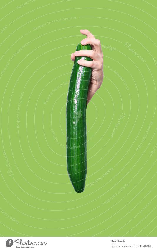 VERGURKT Jugendliche Mann schön grün Junger Mann Erotik Erwachsene Leben Gesundheit Gesundheitswesen Lebensmittel Garten Feste & Feiern maskulin Ernährung