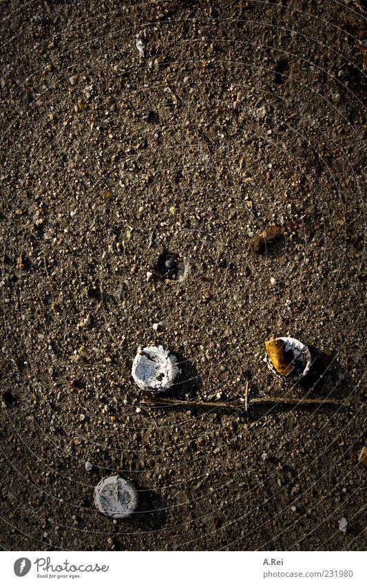 Berlin im Frühling Einsamkeit Stein braun dreckig Beton Ordnung Boden Müll komplex Kronkorken Zigarettenstummel