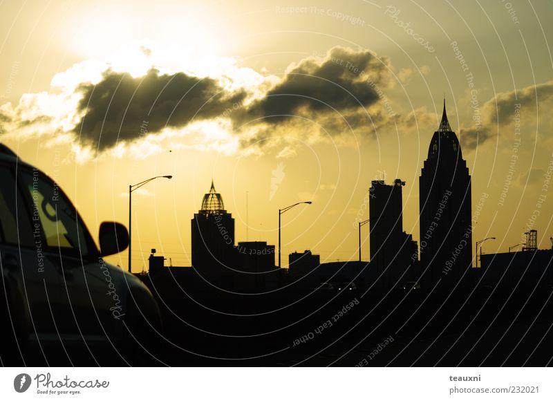 Himmel Stadt Sonne Ferien & Urlaub & Reisen Wolken gelb PKW gold Ausflug Verkehr fahren USA Ziel Sehnsucht Skyline Straßenverkehr