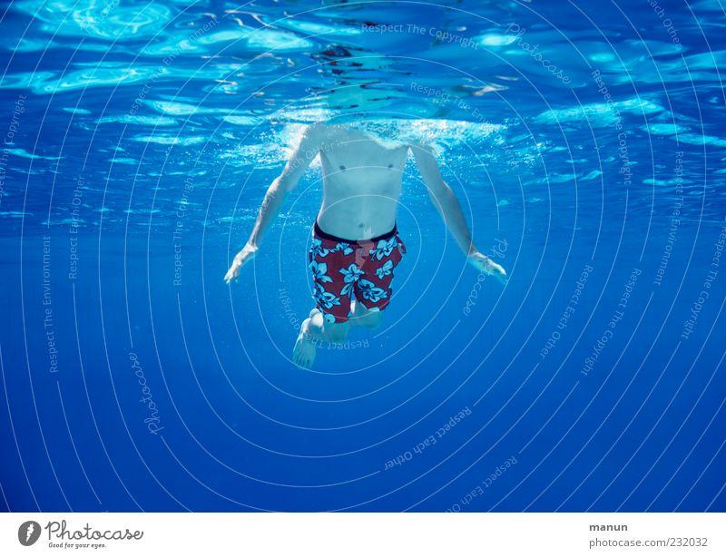 kopflos Freizeit & Hobby Ferien & Urlaub & Reisen Sommer Sommerurlaub Schwimmen & Baden Schwimmbad Mensch maskulin Junger Mann Jugendliche Kindheit Leben 1
