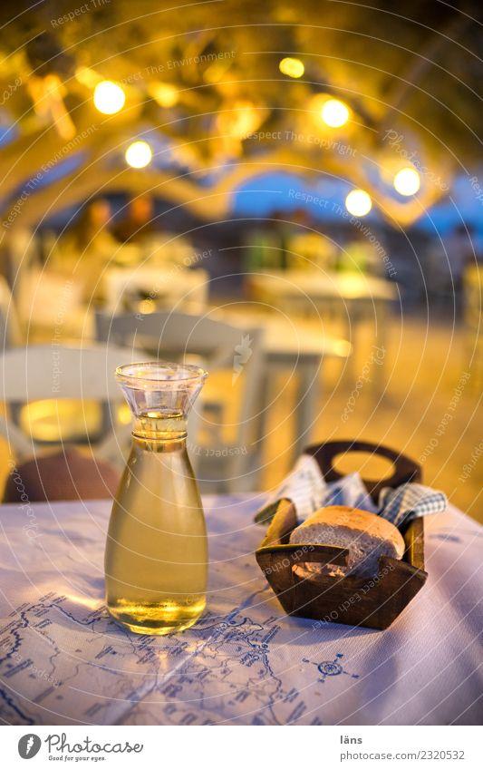 Taverne am Strand Ferien & Urlaub & Reisen Sommer Tourismus einfach Wein Brot Leichtigkeit Griechenland Strandbar Naxos