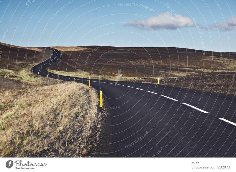 Straßenwetter Natur Ferne Umwelt Landschaft Wege & Pfade Linie Verkehr Aktion bedrohlich Ziel Hügel Asphalt Verkehrswege Island Kurve