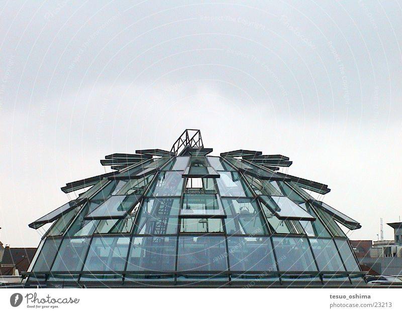 glaskuppel Architektur Parkhaus Kuppeldach Glasdach Glaskuppel